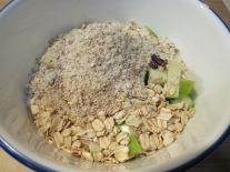 toss in ground almond